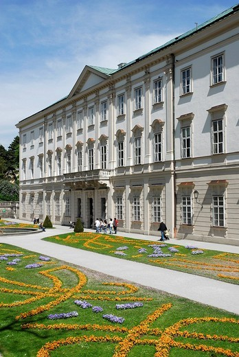 Schloss Mirabell Palace, Mirabellgarten palace gardens, Neustadt district, Salzburg, Salzburger Land state, Austria, Europe : Stock Photo