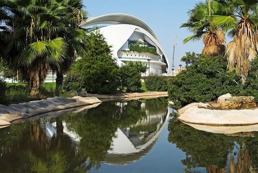 Opera house Palau de les Arts Reina Sofia, City of Arts and Sciences, City of Valencia, Spain, Europe : Stock Photo