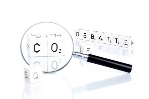 Stock Photo: 1848-259109 CO2 debate German