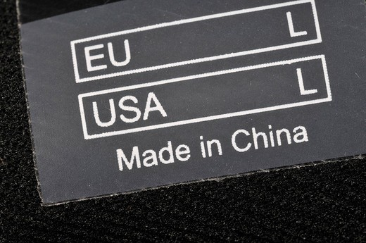 Stock Photo: 1848-2592 Clothes label: EU Large, USA Large, Made in China