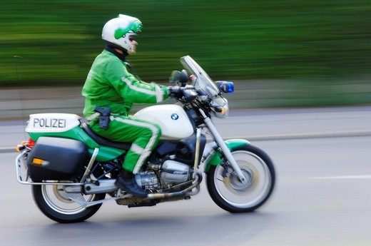 Stock Photo: 1848-259700 Police motorbike