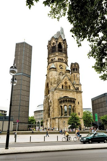 Stock Photo: 1848-259757 Kaiser_Wilhelm_Gedaechtniskirche Church, Berlin, Germany, Europe