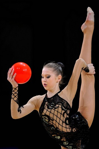 Alina MAKSYMENKO, Ukraine, Grand Prix of Rhythmic Gymnastics, Paris, France, Europe : Stock Photo