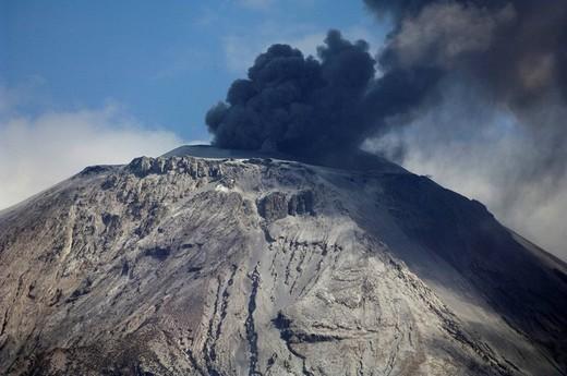 Stock Photo: 1848-260119 Eruption of Ol Doinyo Lengai volcano in 2007, northern Tanzania, Africa