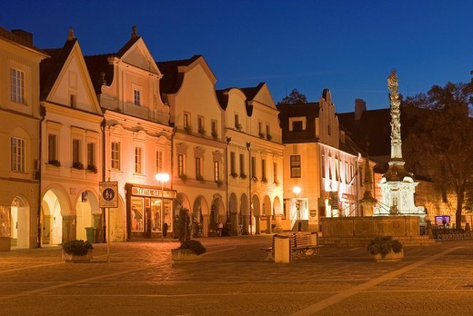 Stock Photo: 1848-26048 Historic old town of Trebon, Wittingau, South Bohemia, Czech Republic