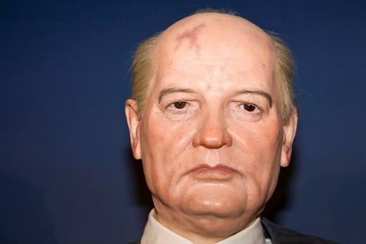 Michail Sergejewitsch Gorbatschow as a wax figure Wax museum of Prague Czechia : Stock Photo