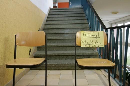 Stock Photo: 1848-261183 DEU, Germany, college admission examination, quiet please