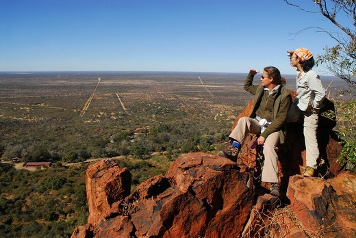 Stock Photo: 1848-26123 View over the bushland, Waterberg, Namibia