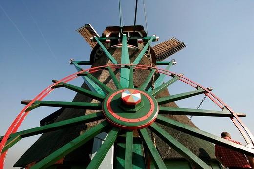 Stock Photo: 1848-261300 Windmill in the Museum Village Zaanse Schans, Zaandam, Netherlands, Europe