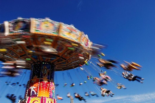 Chain carousel, Wies´n, Oktoberfest, Munich, Bavaria, Germany, Europe : Stock Photo