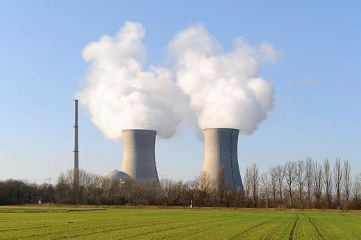 Stock Photo: 1848-263675 Grafenrheinfeld power plant, Lower Franconia, Bavaria, Germany, Europe