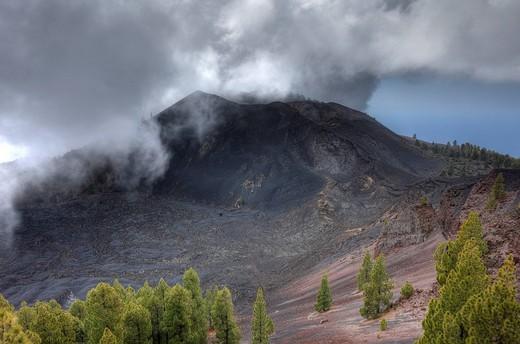 Volcano Duraznero, Ruta de los Volcanes, Volcano Route, La Palma, Canary Islands, Spain, Europe : Stock Photo