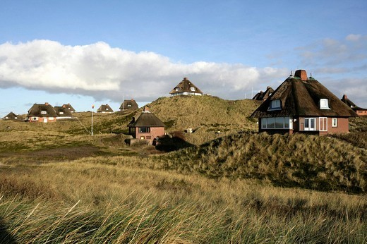 DEU, Germany : North Sea island Sylt, friesian houses in Hoernum. , : Stock Photo