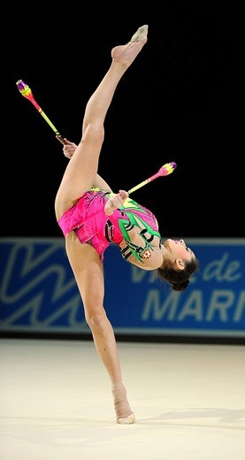 RSG, rhythmic gymnastics, gymnast Anna GURBANOVA, Azerbaijan : Stock Photo