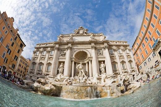 Trevi Fountain, Rome, Italy, Europe : Stock Photo