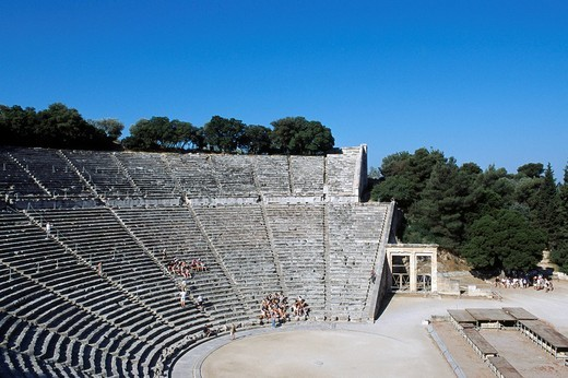 Epidaurus, Epidauros, Peloponnese, Peloponesus, Greece : Stock Photo