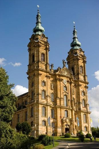 Stock Photo: 1848-265386 Baroque pilgrim church, Vierzehnheiligen Basilica, Upper Franconia, Bavaria, Germany, Europe