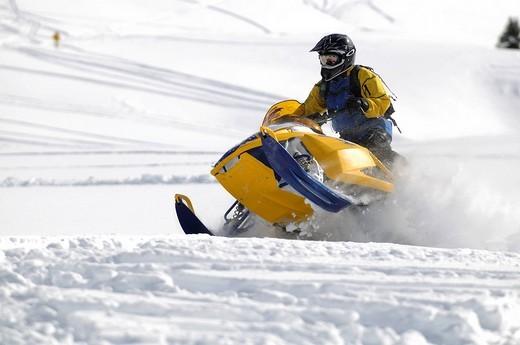 Stock Photo: 1848-265556 Snowmobile_action at Dunton Hot Springs, Colorado, USA