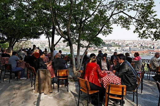 Cafe Pierre Loti, Eyuep, Istanbul, Turkey : Stock Photo