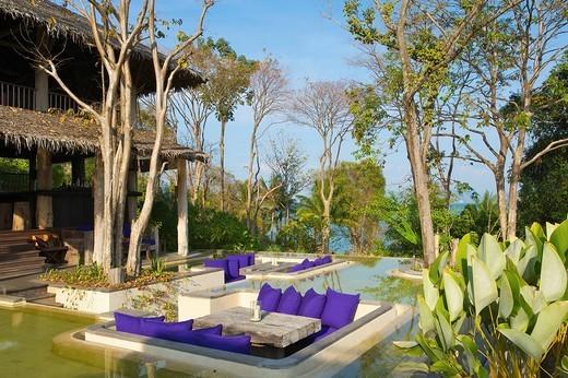 Luxury hotel, Evason Six Senses Hideaway, Yao Noi Island near Phuket Island, Phang Nga Bay, Thailand, Asia : Stock Photo