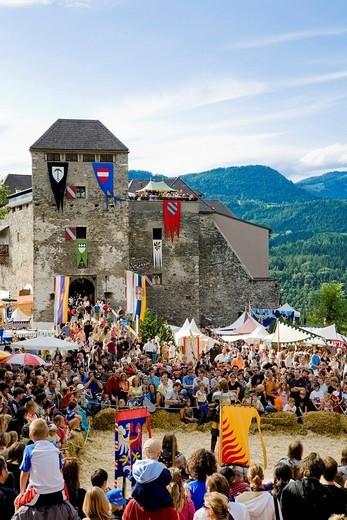 Stock Photo: 1848-266516 Knight´s festival, Castle Oberkapfenberg, Kapfenberg, Styria, Austria
