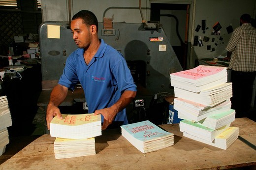 The Catholic Standard´s printing office in Georgetown, Guyana, South America : Stock Photo