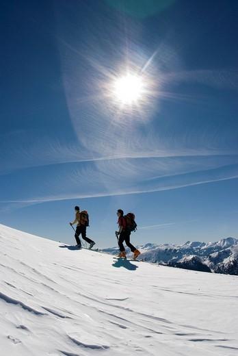 Stock Photo: 1848-267288 Ski tour to the Stadelfeld Alpine Pasture, Gesaeuse National Park, Styria, Upper Austria, Europe