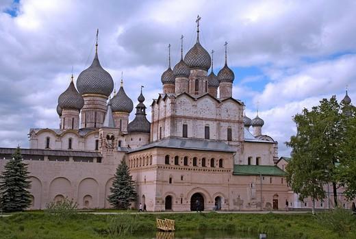 Assumption cathedral, Kremlin, Rostov, Russia : Stock Photo
