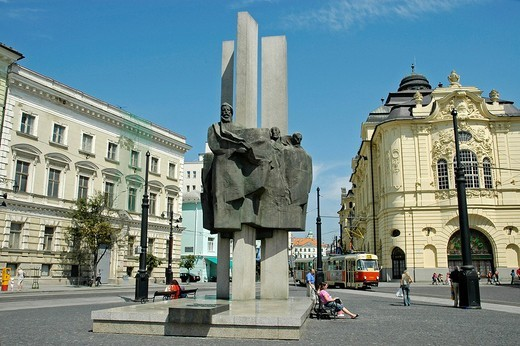 Memorial for the national heroes, Ludovit Stur, Bratislava, Slovakia : Stock Photo