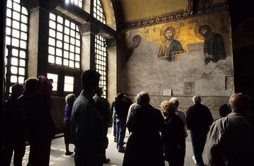 Hagia Sophia, Mosaic, Istanbul, Turkey : Stock Photo