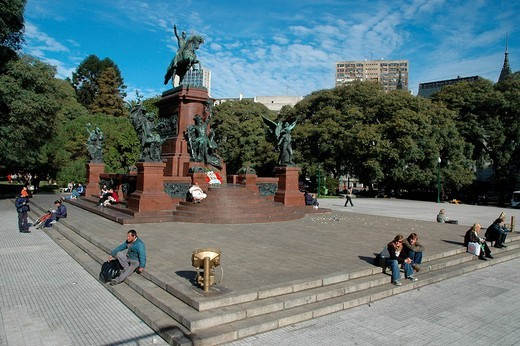 Monument for General San Martín at Plaza San Martín, Buenos Aires, Argentina : Stock Photo