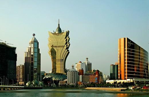 Grand Lisboa, casinos, Macau, China, Asia : Stock Photo