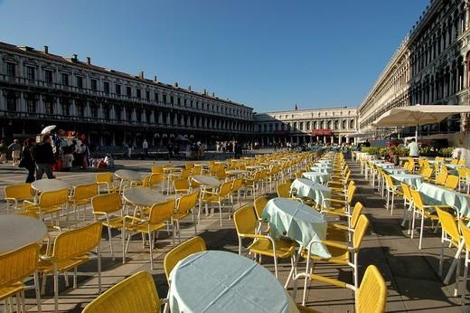 Stock Photo: 1848-270861 St Mark´s Place, Venice, Venetia, Italy, Europe