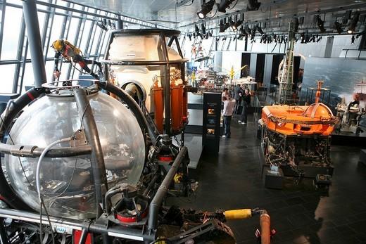 Stock Photo: 1848-270872 Submarine used at offshore oil rigs, Petroleum Museum, Stavanger European Capital of Culture 2008, Norway, Europe