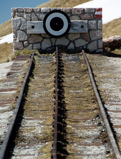 Stock Photo: 1848-271199 End of the cog railway, the Schafbergbahn, Salzburg, Austria, Europe