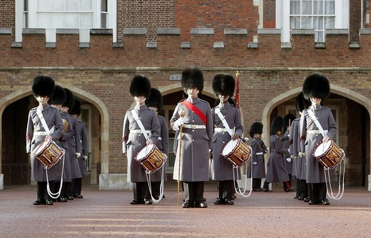 Royal Guards in London, England, Great Britain, Europe : Stock Photo