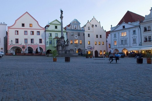 Historic old town of Cesky Krumlov, south Bohemia, Czech Republic : Stock Photo