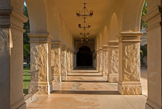 Stock Photo: 1848-272233 El Prado, Balboa Park, San Diego, California, USA