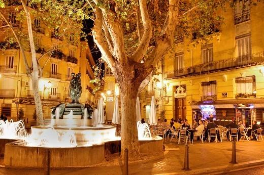 ESP, Spain, Valencia : Old town, shopping street, Calle de San Vicente Martir : Stock Photo