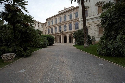 Palazzo Barberini, art museum, Rome, Latium, Italy, Europe : Stock Photo
