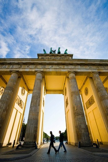 The Brandenburger Tor, Brandenburg Gate in Berlin, Germany, Europe : Stock Photo