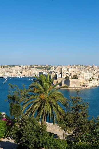 View from Valletta to Vittoriosa, Malta, Europe : Stock Photo