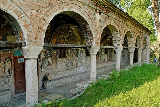 St. Athanasius Church, Kisha e Shen Thanasit, Voskopoje, Albania, Balkan Range, Europe : Stock Photo