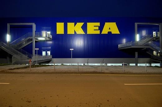Stock Photo: 1848-27696 Furniturestore IKEA at Berlin_Tempelhof