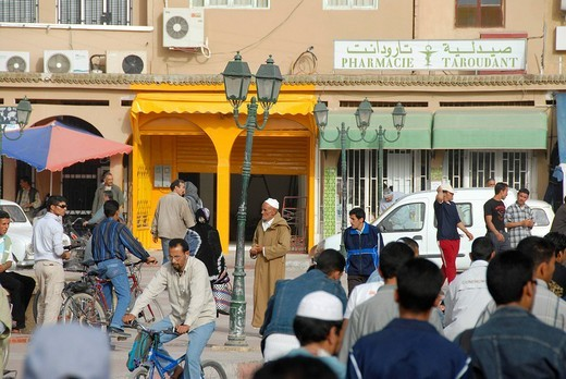 Alive square Place al Alaouyine Place Assarg Taroudannt Morocco : Stock Photo