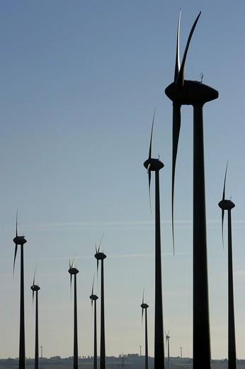 DEU, Germany, Soest, 18.10.2005 : Wind turbines near Soest. , : Stock Photo