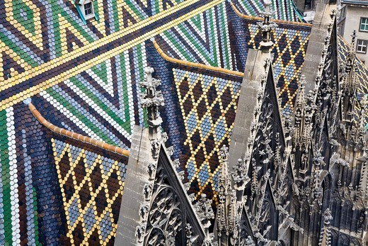 Roof of the Stephansdom Vienna Austria : Stock Photo