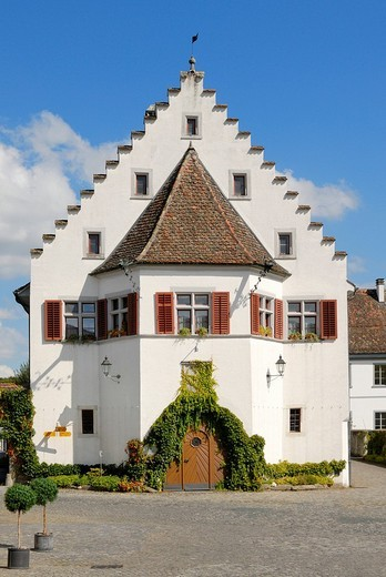 Stock Photo: 1848-27959 Rheinau _ parish house from the monastery _ Kanton Zurich, Switzerland, Europe.