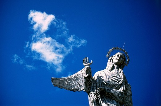 Stock Photo: 1848-27963 Statue of the Virgin Mary, Panecillo, Quito, Ecuador