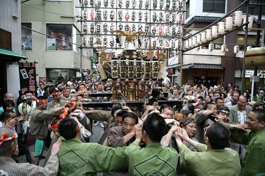 Stock Photo: 1848-28103 Matsuri Shrine festival, Asakusa Jinja Shrine, Tokyo, Japan, Asia
